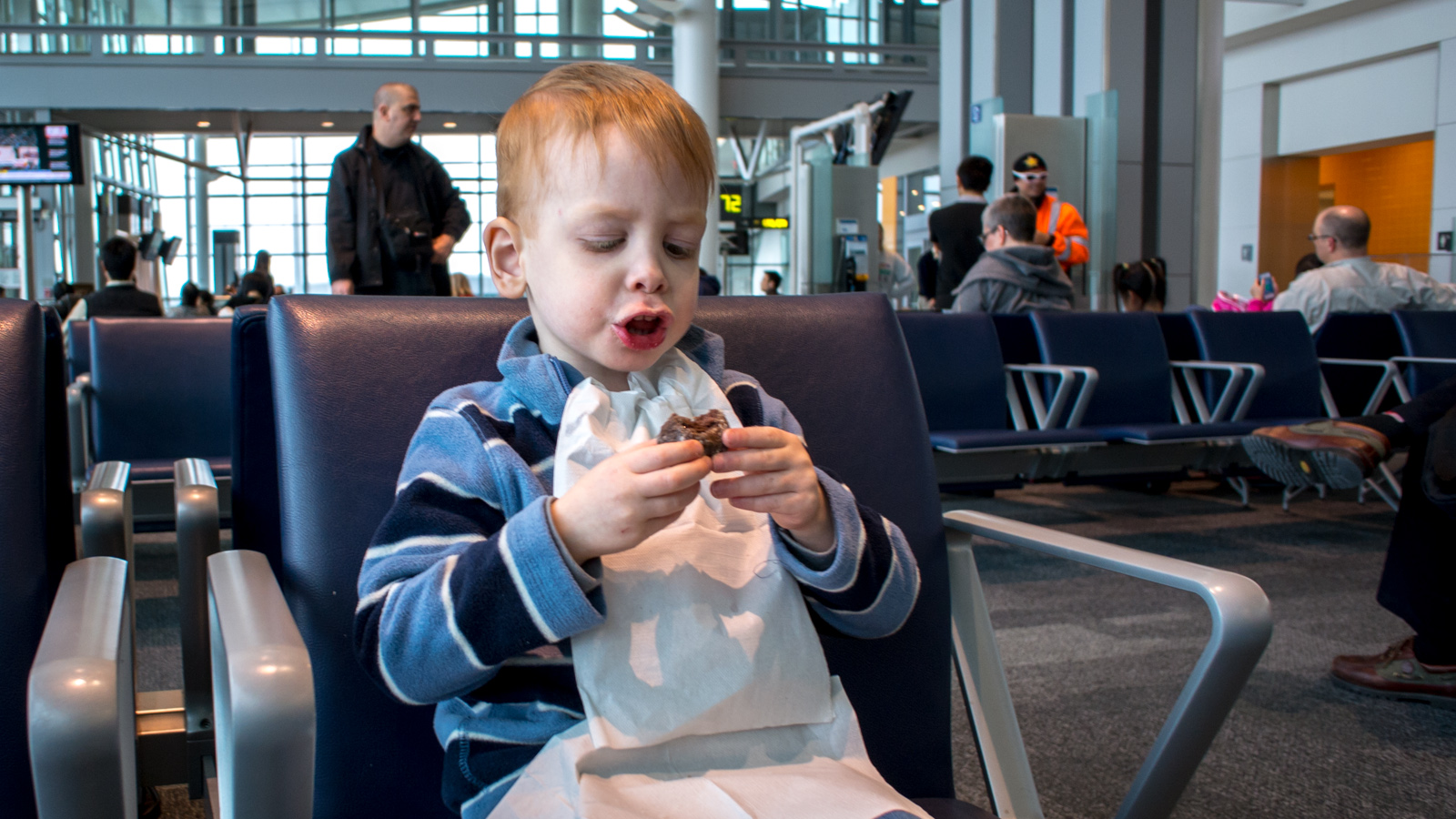 A Timbit before the 14 hour flight – Toronto, Canada