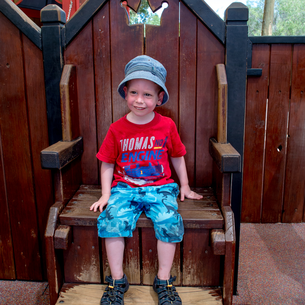 Rowan on his throne – Perth, Australia