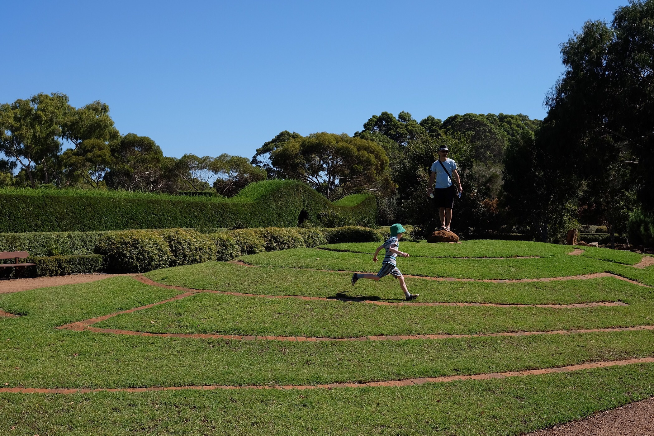 Running around the mazes — Margaret River, Western Australia