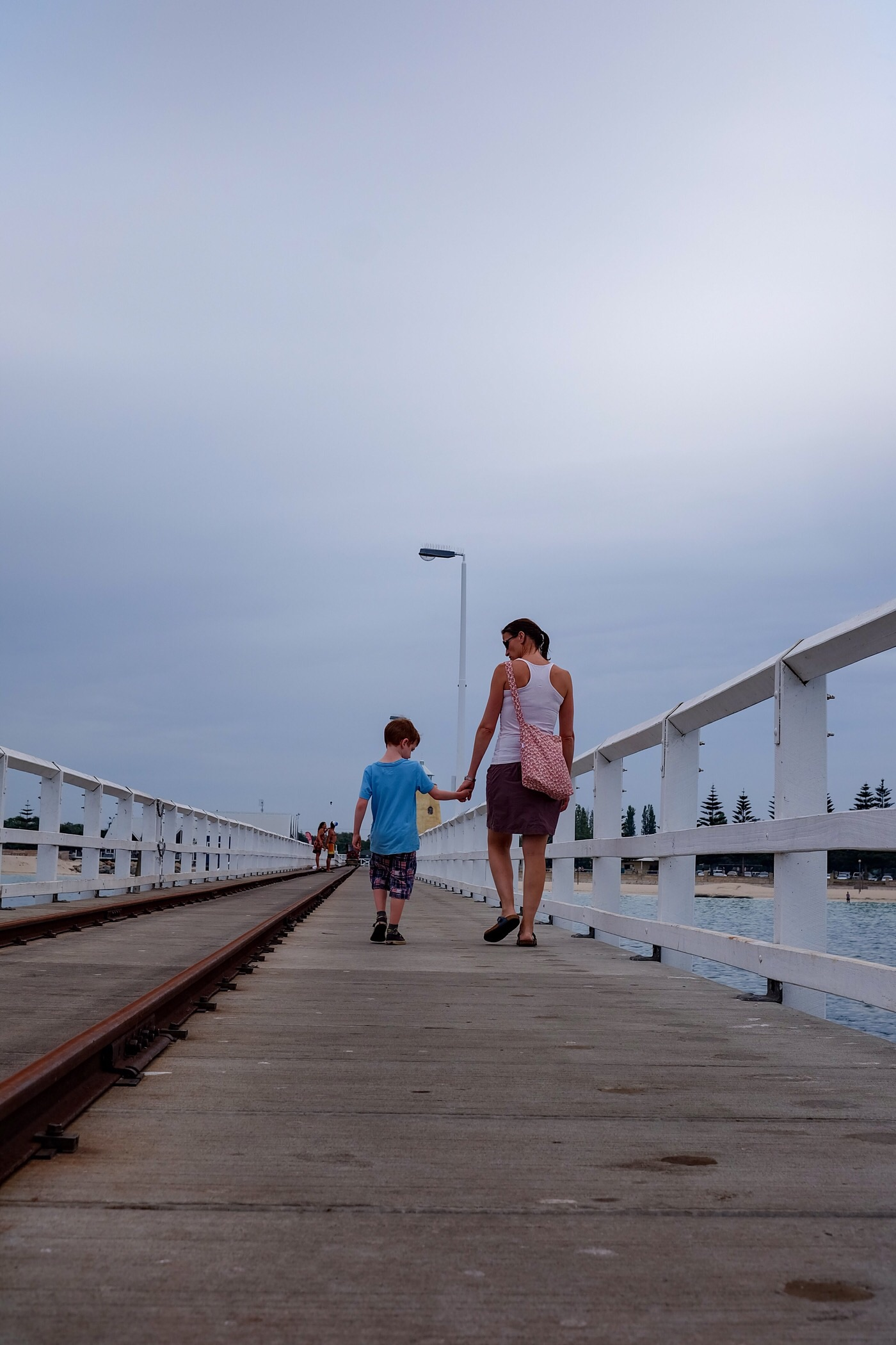Walking along Busselton jetty — Western Australia