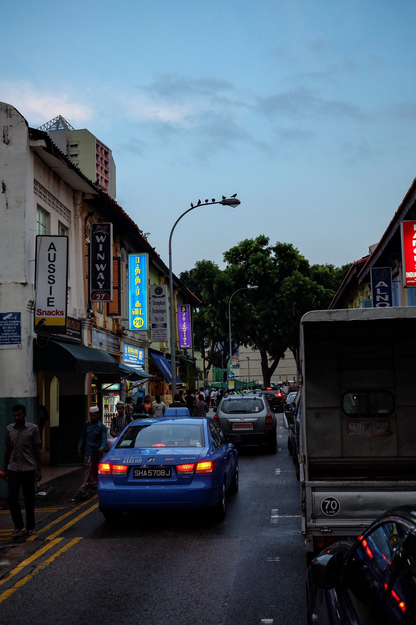 Tight streets in little India — Singapore