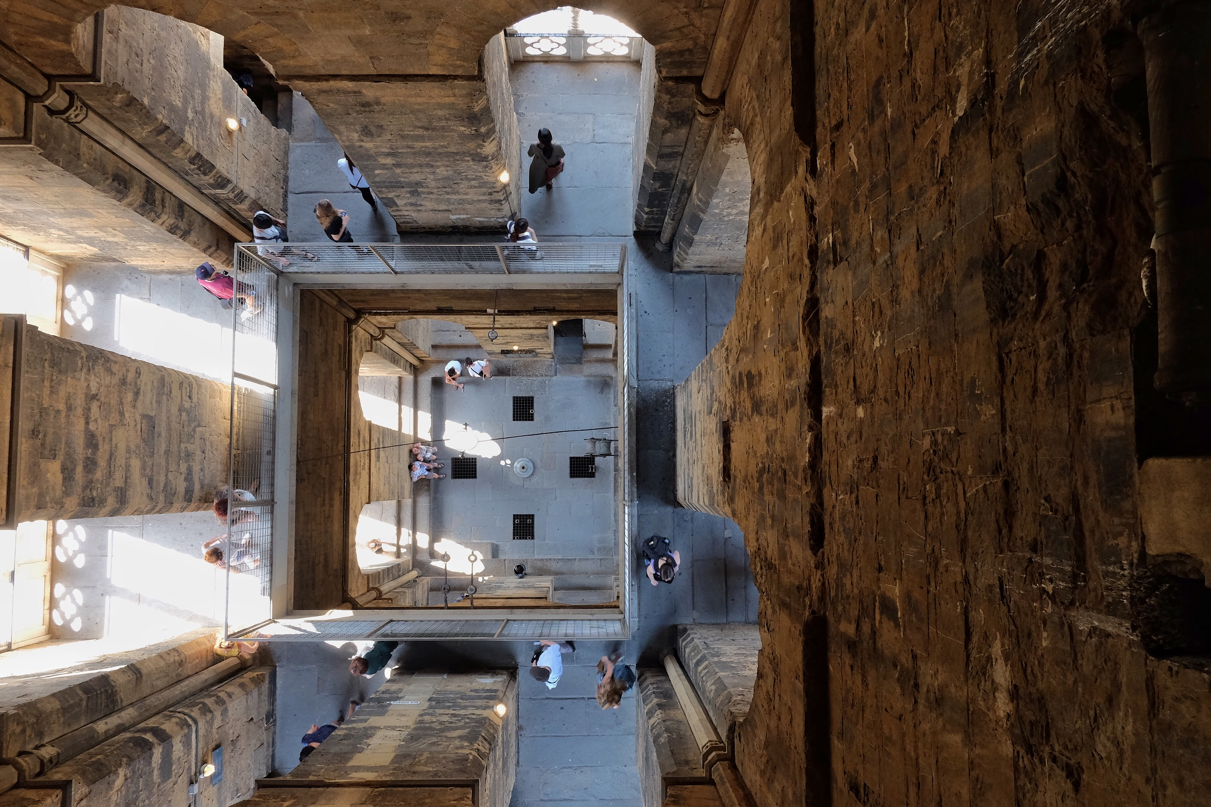 Looking down through the Santa Maria del Fiore Bell Tower.
