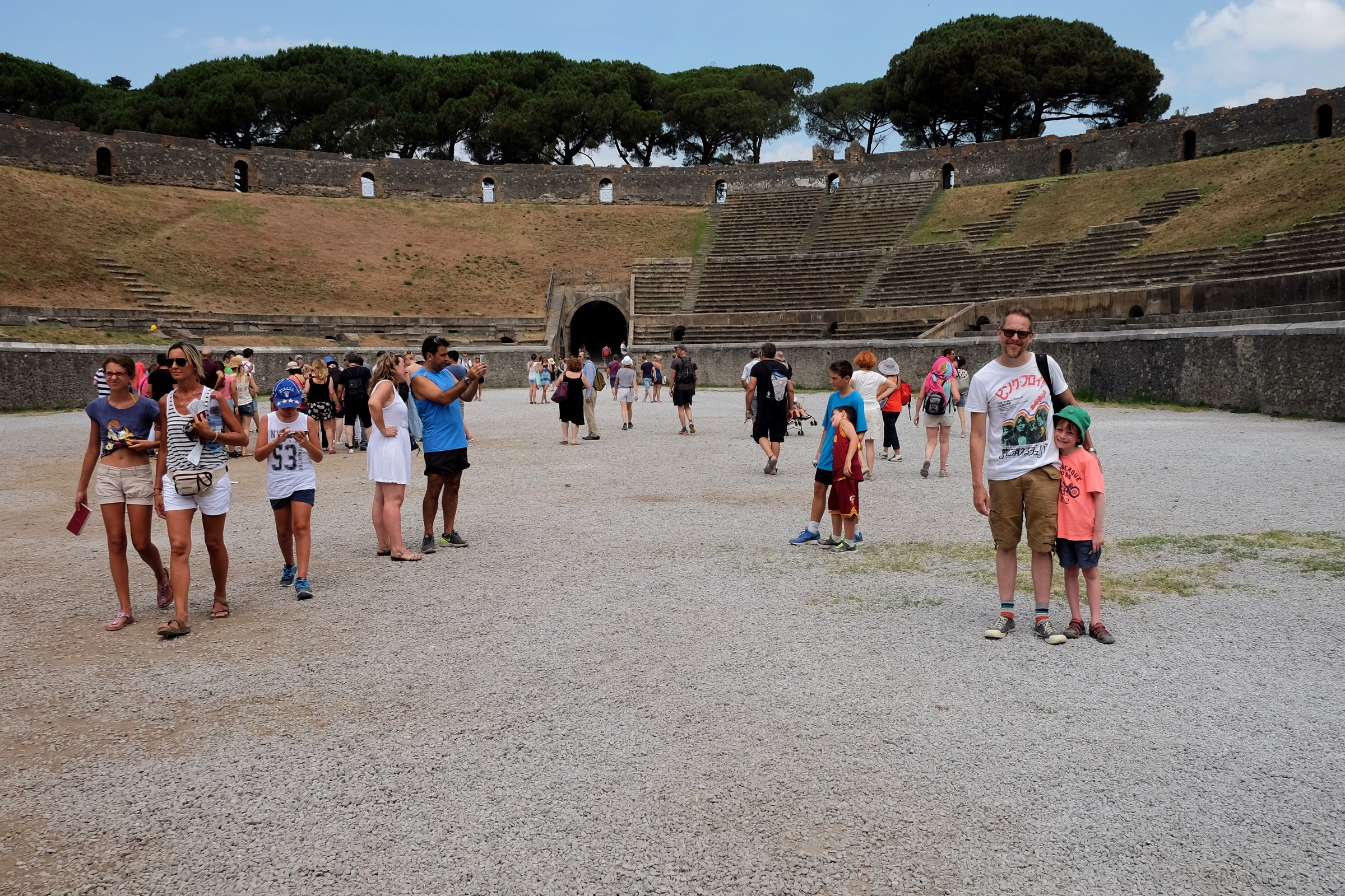 Standing where Pink Floyd played in the Amphitheatre of Pompeii.