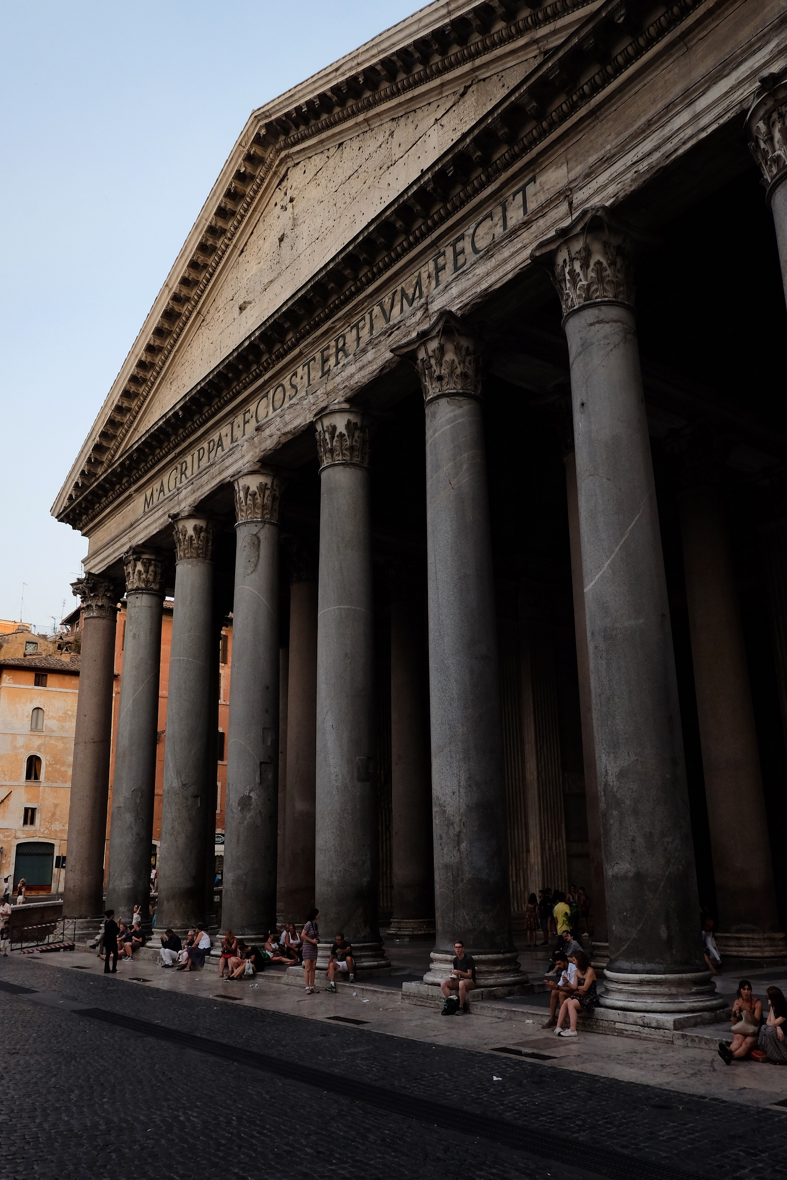 Walking past the Pantheon hunting for more gelato.